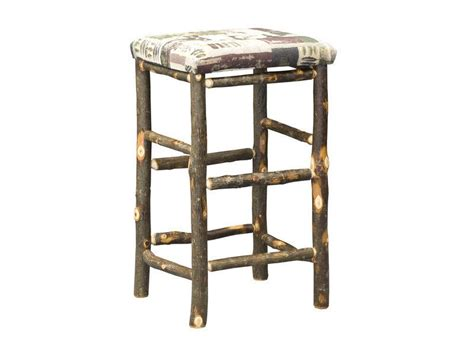 Hickory Wood Bar Stools by Amish Hickory 30 Inch Bar Stool With Fabric Seat