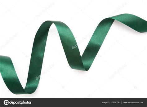 The Tali Ribon Bordier White green ribbon border isolated on white stock photo 169 onairjiw 133524758