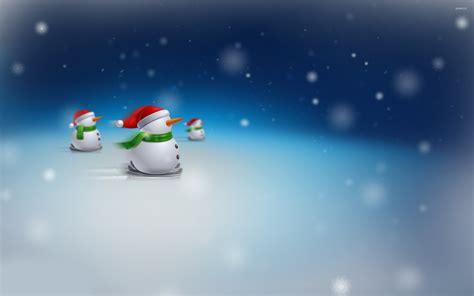 snowmen  skis wallpaper holiday wallpapers