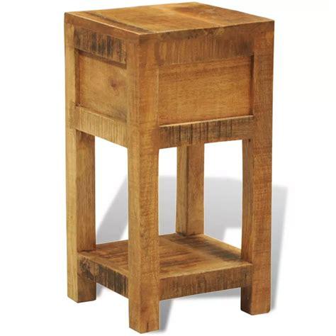 solid wood side table vidaxl co uk solid wood display side table nightstand
