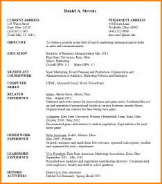 Undergraduate Resume Template by 7 Resume Format For Undergraduate Inventory Count Sheet