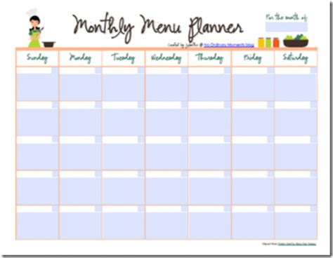 free editable printable meal planner free editable monthly menu planner free homeschool deals