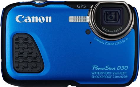 Kamera Canon Powershot D30 canon powershot d30 outdoor kamera 12 1 megapixel 5x opt zoom 7 5 cm 3 zoll display