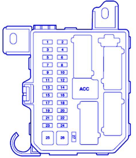 mazda 626 es 2002 passenger compartment fuse box block