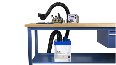 high capacity extractor arm evac 250 microprocessor controlled fume extraction