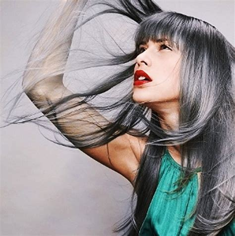color grey hair popular hair cuts grey hair color trends 2013