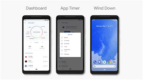 android firmware android dashboard app timer wind and new do not disturb features will help look after