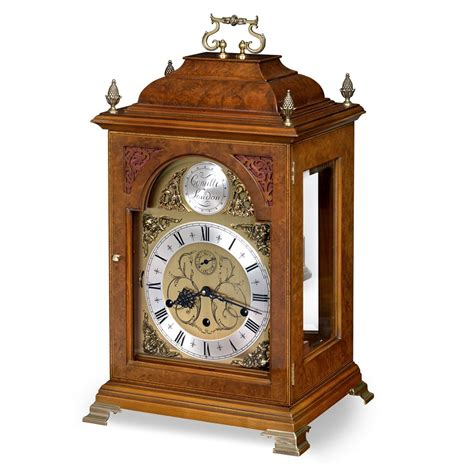 walnut table clock large mantel desk clocks