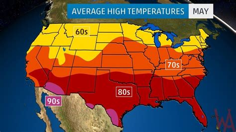 weather map usa temperature highs average high temperature of the us may whatsanswer