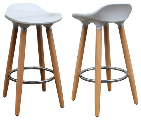 bar stools and counter stools plastic counter stools set of 2 white contemporary
