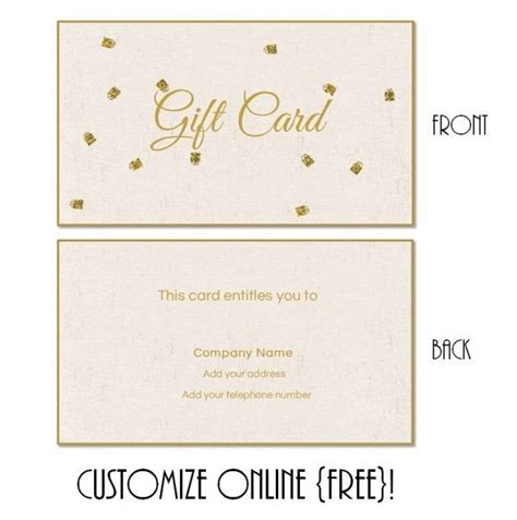 printable gift cards online free free customizable gift certificate template