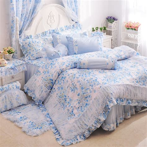 cherry blossom flowers girls ruffle tulle bedding sets
