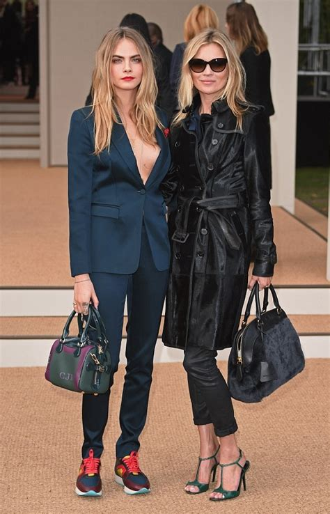 The Burberry Prorsum Dress Worn By Kate Moss Watts And Hathaway by Fashion Week 2014 Cara Delevingne Kate Moss