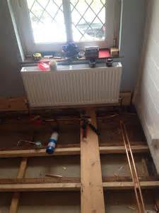 new radiator and plumbing