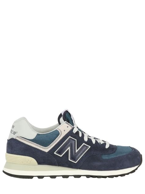 Rasio Mesh Sneakers Navy new balance 574 classic suede and mesh sneakers in blue for navy lyst