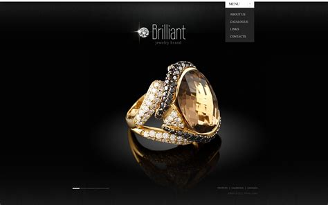 design brief jewellery jewelry website template 40763