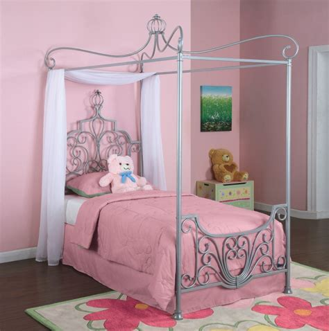 girls twin canopy bed twin canopy bedroom youth princess rebecca bed set ebay