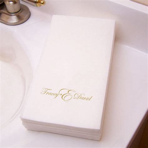 monogrammed disposable hand towels for bathroom custom printed disposable 3 ply paper guest towels