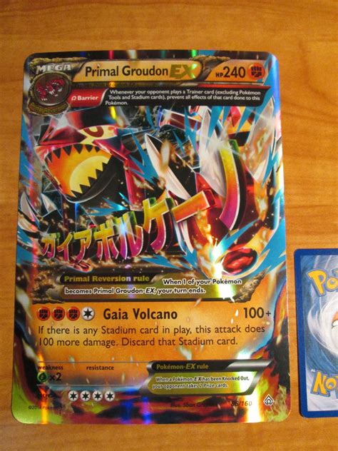 large cards nm mega jumbo oversized primal groudon ex card