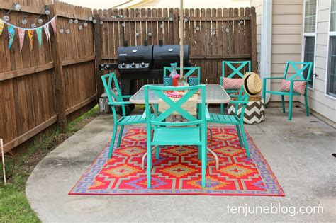 Ten June Colorful Outdoor Patio Makeover Reveal Colorful Patio Chairs
