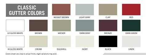 gutter colors abc aluminum color chart pictures to pin on