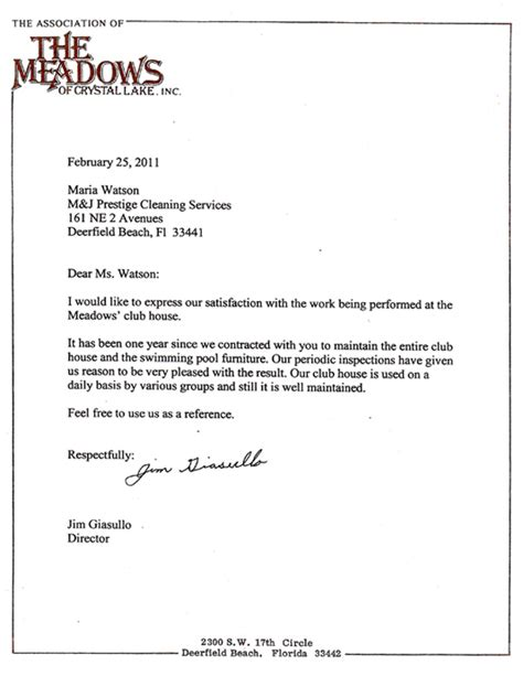 Reference Letter For Cleaning Reference Letters Mcj Cleaning