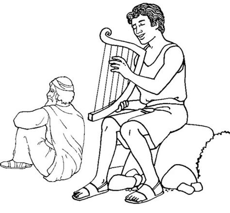 coloring pages for king saul king david bible story clip art cliparts
