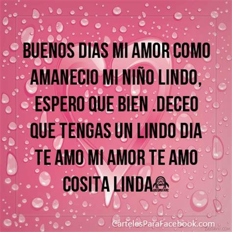 Imagenes Buenos Dias Amor Como Amanecio | cartel 2052 buenos dias mi amor como amanecio mi ni 241 o