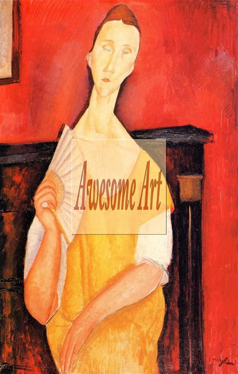 modigliani with a fan modigliani portrait of lunia czechowska with fan 2