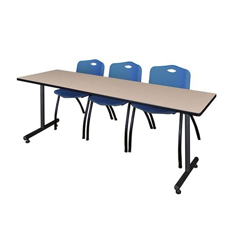 24 x 84 table 84 quot x 24 quot table beige 3 m stack chairs
