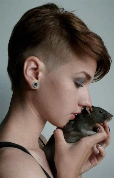 short hairstyles haircuts girl  rat photoshoot