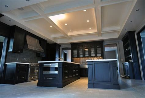 modern island kitchen design using slate kitchen photo 491836 kitchen coffered ceiling design ideas