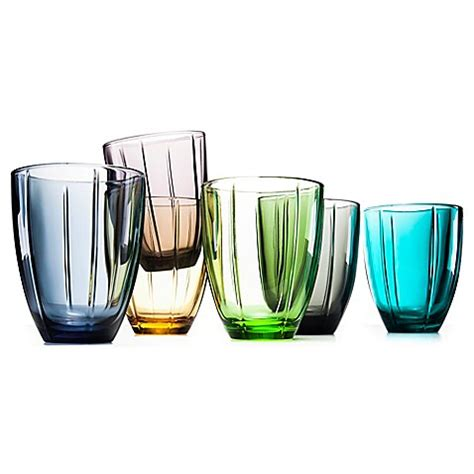 bed bath and beyond glassware noritake 174 colorwave glassware tumblers in set of 4 bed