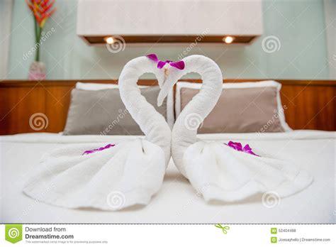 towel origami swan fold towel swan stock photo image 52404488