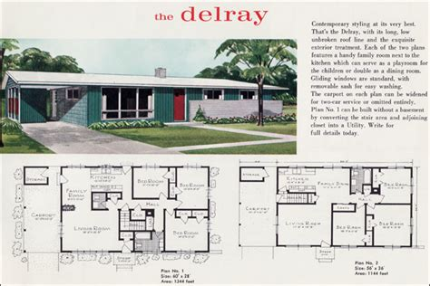 mid century modern house plans online 1960 mid century modern ranch the delray liberty ready