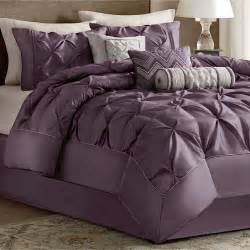 piedmont plum 7 pc comforter bed set