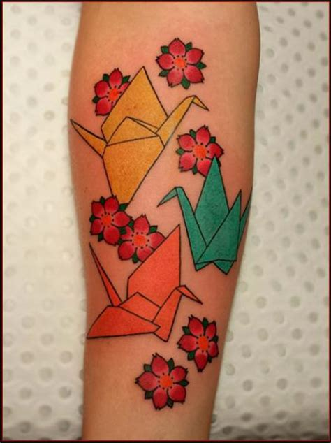 Origami Arm - picture kirigami tattoos