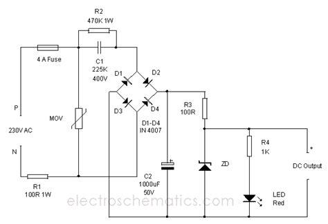 working of capacitor in power supply به قلم جمعی ازمهندسان برق شیراز شهر راز capacitive power supply circuit