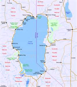 california map lake tahoe