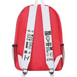 Twenty one pilots red backpack from hot topic