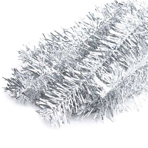 silver tinsel stems holiday craft supplies christmas