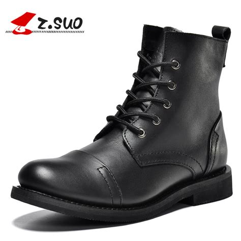 quality mens boots z suo s boots leather mens boots brand fashion