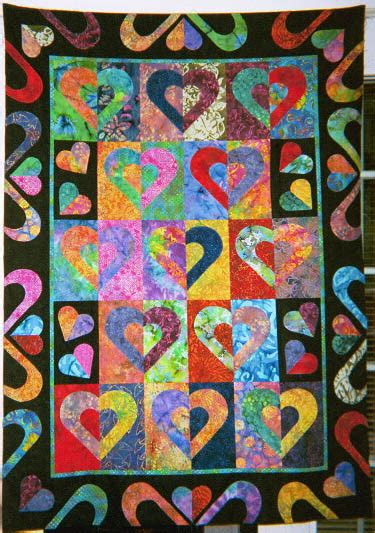 Quilt Cutters by Debby Kratovil Quilts Cookie Cutter Hearts Quilt Finished