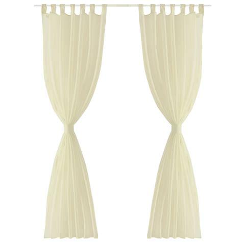 sheer cream curtains vidaxl co uk cream sheer curtain 140 x 245 cm 2 pcs