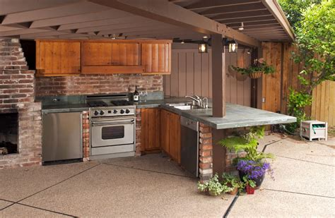 outside kitchen designs inspiring architectural outdoor kitchen tips to set the