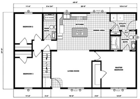 28 X 48 Modular Ranch Home Plans Popular House Plans And 28 X 48 House Plans