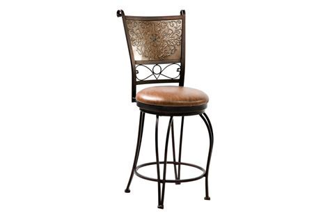 Bronze with Muted Copper Stamped Back Counter Stool, 24