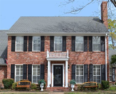 colonial house plans with portico southern style plantation home designs president james