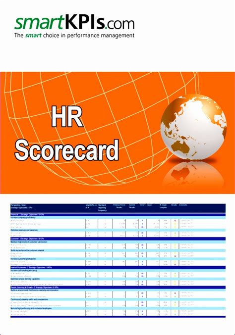 balanced scorecard excel template exceltemplates