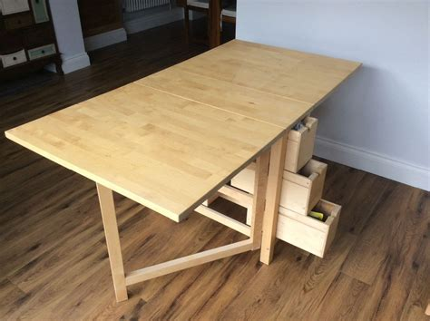 ikea norden gateleg extending dining table wood birch